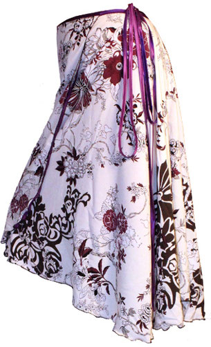 Wickelrock, Wrap skirt, Blumen, Floral