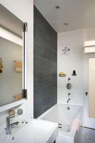 Renovated bathroom.