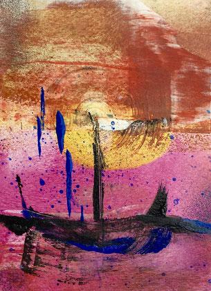 Element and wonder, 2018, tecnica mista, 10 x 13 cm
