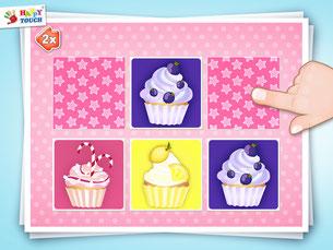 Activity Finde die Paare: Essen - Apps für Kleinkinder und Kinder ab 2 Jahren - von Happy Touch Kinderspiele ®