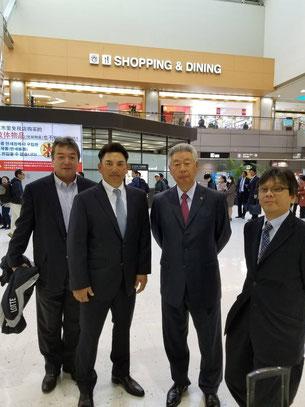井口新監督と後援会役員