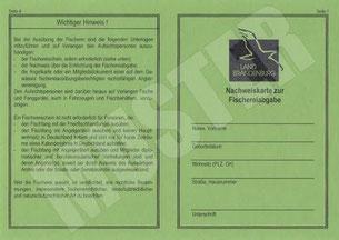 Friedfisch Angelerlaubnis Nachweiskarte