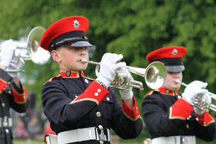 Photo of a bandsman from the brass section