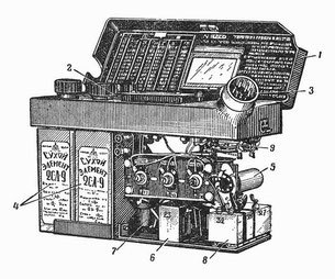 Sectional drawing of the geiger counter radiometer DP-11B