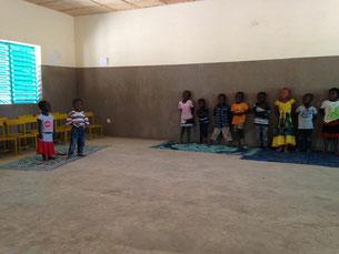 Klassenraum in der écolle Maternelle, Januar 2018