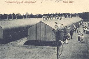 Bild: Seeligstadt Wellblechbaracke Königsbrück 1915