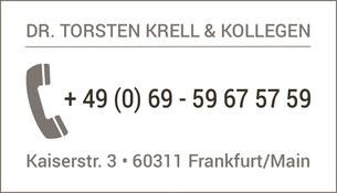 Wurzelbehandlung Frankfurt Innenstadt, Dr. Torsten Krell, Zahnarzt Frankfurt Tel. 069 59675759