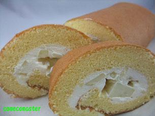 こめこめこの米粉100%ロールケーキの写真