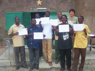 Mission de solidarité à Léo, au Burkina Faso (2008).