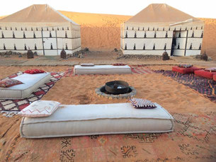 Enjoy the night in one of the beautiful camps and listen to the music beneath the starry sky - you will love it!