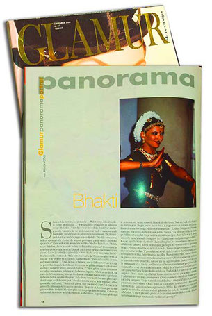 Interview für slowenisches Glamour 2004