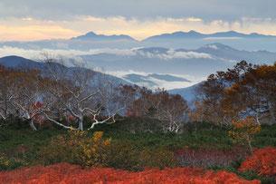10月上旬・紅葉の位ヶ原から望む南アルプス