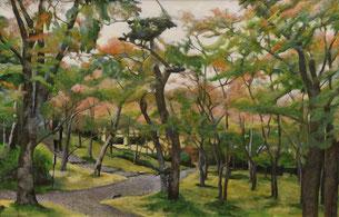 秋の箱根美術館(油彩・M40)
