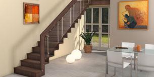 LINEA - Stufen als Faltwerk - Holztreppe von BUCHER Treppen
