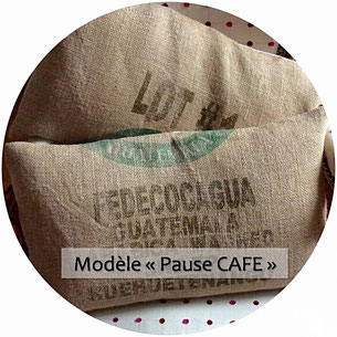 coussin fait main made in France pièces uniques upcycling recyclage sac de café