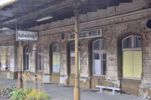 Alter, aufgelassener Bahnhof von Annaberg