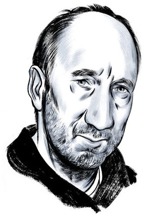 Pete Townshend. Credit Illustration by Jillian Tamaki
