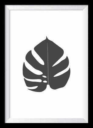 Tropisches Blatt - Illustration