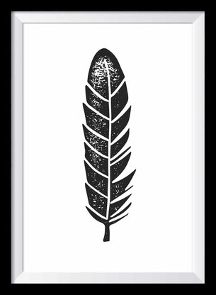 Federleicht Illustration, Zeichnung in schwarz-weiß