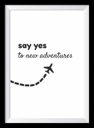 Adventure Wandbild - Typografie - Reisen
