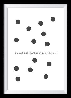 Typografie Poster Liebe