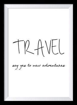 Typografie Poster Reisen, travel
