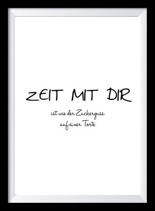 Typografie Poster, Typografie Print Zeit mit dir