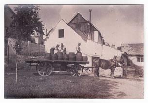 Kelterei Eckert auf dem Weinberg bei Deggendorf 1919