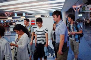 出発前の羽田国際空港にて