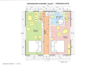 DISPENSAIRE DYARAMA, Taayaki, Personalhaus Plan