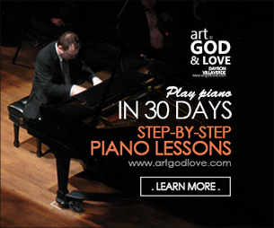 Art God & Love Inc. - Play piano in 30 days. Online piano lessons - Step-by-step piano lessons.
