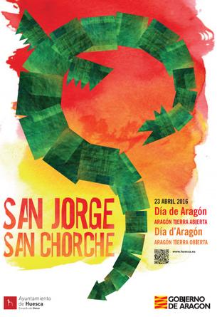 Cartel y Programa de San Jorge y Día de Aragón en Huesca