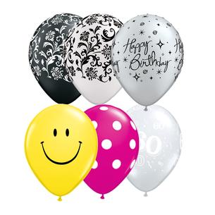 Qualatex Latexballons rund Muster gemustert Aufdruck Qualitätsballons hochwertig