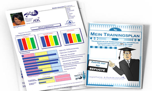 Ausdruck eines AFS-Testergebnisses und eines individuellen Trainingsplans