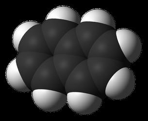 plastische Darstellung von Naphthalin als so genanntes Kallottenmodell (Bild: Wikipedia)