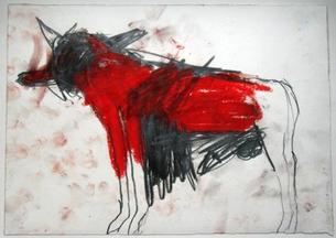 Otto Lehmann Zeichnung ohne Titel aus 1981