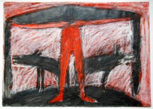Otto Lehmann Zeichnung ohne Titel 2, 1981