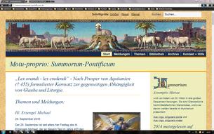 Motu Proprio Summorum Pontificum