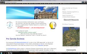 Pro Sancta Eclesia - Für die heilige Kirche