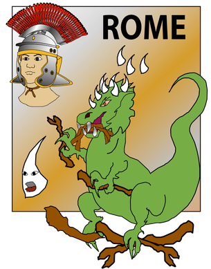 La 4ème bête de la vision de Daniel a de grandes dents en fer. Elle est extraordinairement puissante. Elle piétine et brise tout sur son passage. Dans la statue immense de Daniel chap 2 dans l'empire romain correspond aux jambes en fer.