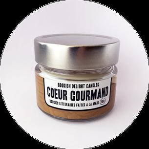 """Bougie """"Cœur gourmand"""" - Copyright : Mille et un livres"""