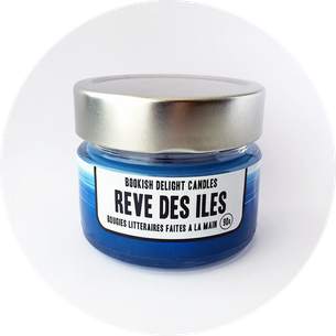 """Bougie """"Rêve des îles"""" - Copyright : Mille et un livres"""