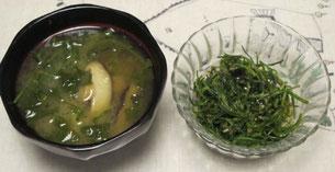 オカヒジキの料理2種