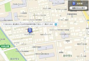 地図上の住所がわかる「住所君」使用例