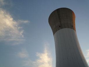 北千葉浄水場の高架水槽
