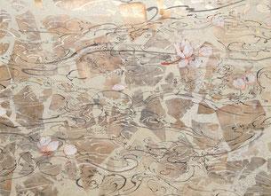 露 日本画 24.2x33.4cm