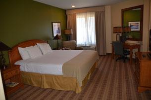 unser Zimmer in der Donner Lodge