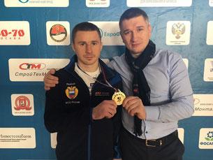 Алексей Рябков со своим наставником Евгением Омельченко