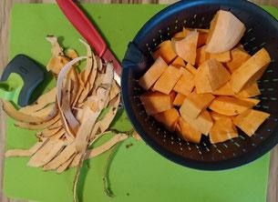 Süßkartoffel Pfannkuchen Pancake Rezept Rezepte BLW Baby Led Weaning Frühstück Abendbrot Mittagessen einfrieren kochen