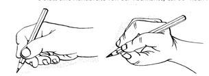 Neue Stifthaltung